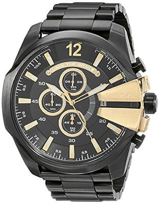 Diesel DZ4338 - Reloj unisex, correa de acero inoxidable color negro
