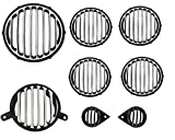 #7: AutoSun Ultrafinished Heavy Metal Headlight Grill, Indicator, Eyes and Tail Light Grill for Royal Enfield (Classic-350)