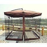 SKYLLPATION Moskitonetz Ampelschirm - Fliegengitter schwarz - Insektenschutz für Sonnenschirme Pavillon