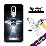 BeCool - Coque Etui Housse en GEL Wiko WIM Lite, [ +1 Protecteur Verre Trempé ] Silicone TPU, protège et s'adapte a la perfection a ton Smartphone. OVNI.