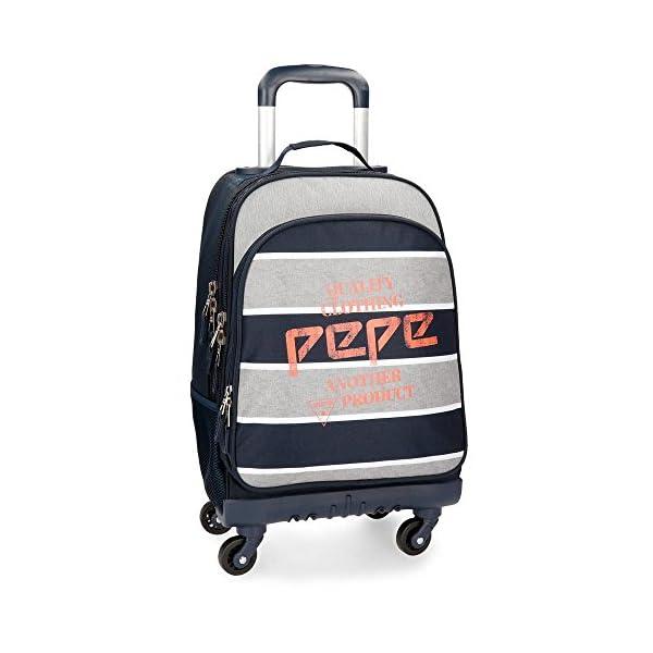 51kFqYgPoGL. SS600  - Mochila con ruedas Pepe Jeans Pierre 4R