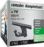 RAMEDER Komplettsatz, Anhängerkupplung abnehmbar + 13pol Elektrik für VW GOLF V (113021-04991-1)
