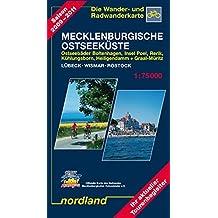 Nordland Karten, Ostseeküste zwischen Lübeck und Rostock