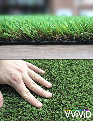 VViViD Natürliche Dreifarbige Synthetische Gras UV Vinyl Turf Matte Bulk Rolle 8ft x 40