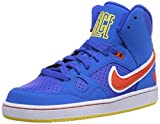 Nike Son Of Force Mid (Gs) 615158-402 Jungen Basketballschuhe Blau (Mgnt Grey/Blck-Wht-Mtllc Slvr) 38.5