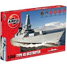 Airfix - Kit per modellino in plastica nave Type 45 Destroyer in scala 1:350