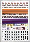 SLOTCAR SCALEXTRIC 1/32nd maßstab Rennfahren sticker aufkleber