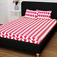 Story at Home Queen Double Bedsheet Set, Pink/White, 225cm X 235cm, Cn1404