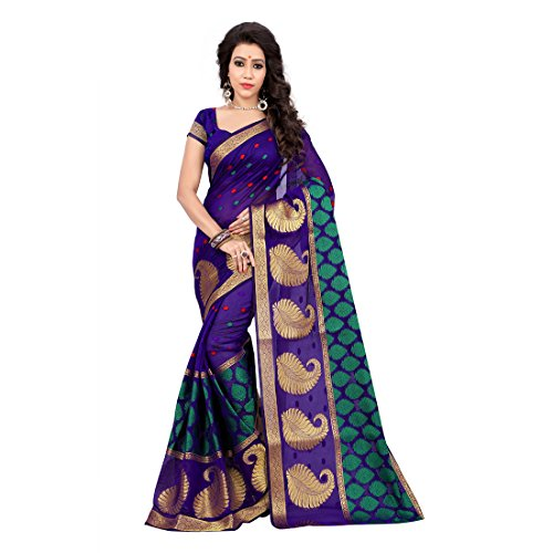 Shree Women's Cotton Silk Saree With Blouse Piece (Ppp102_Multi-Color)
