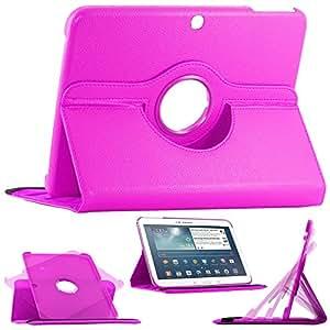 ebestStar - pour Samsung Galaxy Tab 3 10.1 GT-P5210, 10 pouces P5200 P5220 - Housse Coque Etui PU cuir Support rotatif 360° + Film, Couleur Violet [Dimensions PRECISES de votre appareil : 243.1 x 176.1 x 8 mm, écran 10.1'']