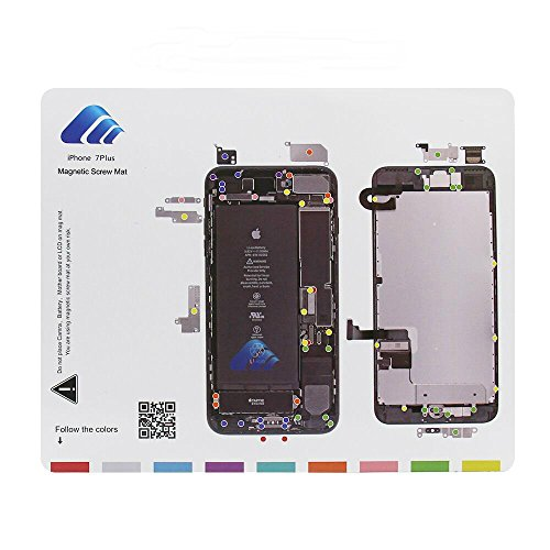 Magnetic Project Matte für iPhone 6/7 Plus Schraube Matte Repair Guide Pad Schraube Keeper Diagramm Karte Professionelle Guide Pad Reparatur - Iphone 4 Schraube Mat