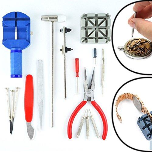 W 16PCS DELUXE Uhr Öffner Werkzeug Kit Reparatur Pin Entferner (14Tage Geld zurück Garantie) [Energieklasse A + +] -