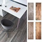 Bodenfliese Holzoptik Global 20x180cm | Boden-Fliesen | Bad-Fliesen | Feinsteinzeug | Fliesen-Bordüre | Ideal für den Wohnbereich und fürs Badezimmer … (Braun)