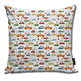 Busy Traffic Pattern Pillowcase Home Life Cotton Cushion Case 18 x 18 inches