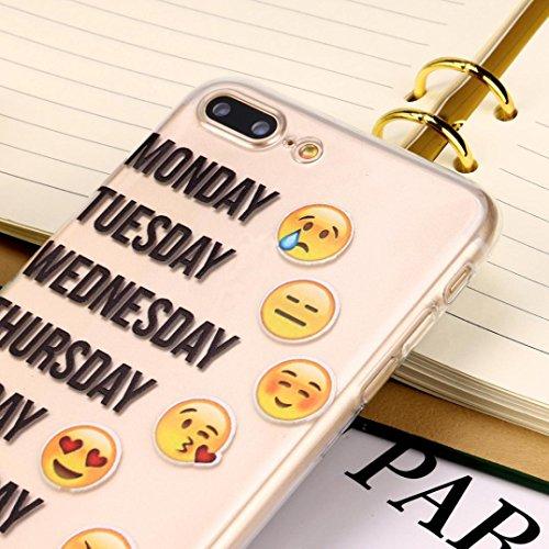 Für Iphone 7 Plus hülle Jamicy® Emoji Extra dünn Fallschutz Objektivschutz Rutschfest Schutzhülle Weiches Silikon handyhülle Telefonschale Für Iphone 7 Plus 5.5'' (I) M