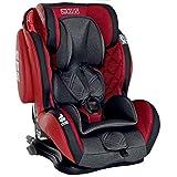 LCP Kids Auto Kindersitz 9-36 kg Isofix GT Comfort - Liegefunktion - verstellbare Kopfstütze Gr. 1 2 3; Rot