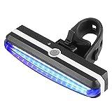 Colorful Fahrradrückleuchte,LED Fahrrad Radfahren Vorne Hinten Rücklicht Scheinwerfer Lampe, USB Wiederaufladbar (Blau)
