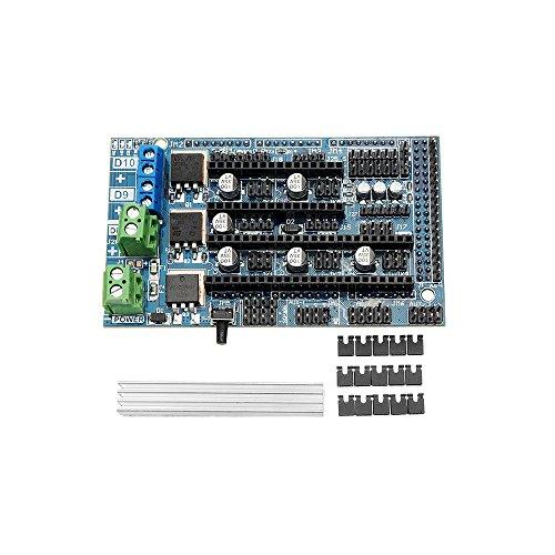 sgerste Upgrade Rampen 1.6Boden auf Rampen 1,54-lagige Systemsteuerung Mainboard Expansion Board für 3D Drucker Teile