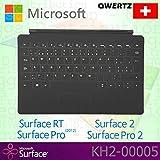 Microsoft Surface RT/Pro (2012)/2/Pro 2Touch Cover Schweiz QWERTZ Tastatur mit Backlit Schlüssel–Schwarz–OEM verpackt (keine Einzelhandelsverpackung)