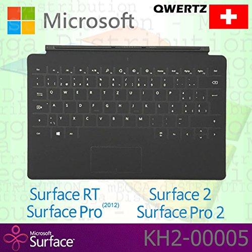 Microsoft Surface RT/Pro (2012)/2/Pro 2Touch Cover Schweiz QWERTZ Tastatur mit Backlit Schlüssel-Schwarz-OEM verpackt (keine Einzelhandelsverpackung) (2 Tastatur Surface)