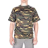 TEE SHIRT CAMO CAMOUFLAGE WOODLAND COL ROND ET MANCHES COURTES MILTEC 11012020...