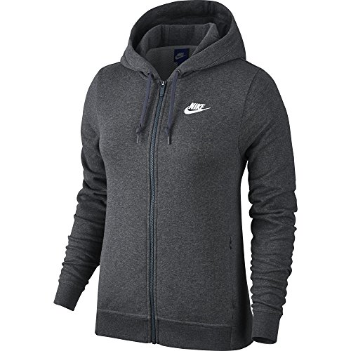 Nike 853932-071 Veste à Capuche Femme, Charcoal Dark Grey Heather, FR : M (Taille Fabricant : M)