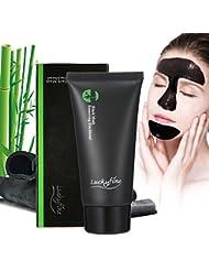 Masque Point Noir LuckyFine Masque Noir Blackhead Remover Masque Peel off Pore Nettoyage en Profondeur l'acné Comédons Décapant avec Charbon Bambou
