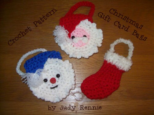 Crochet Pattern - Christmas Gift Card Bags eBook: Judy Rennie ...