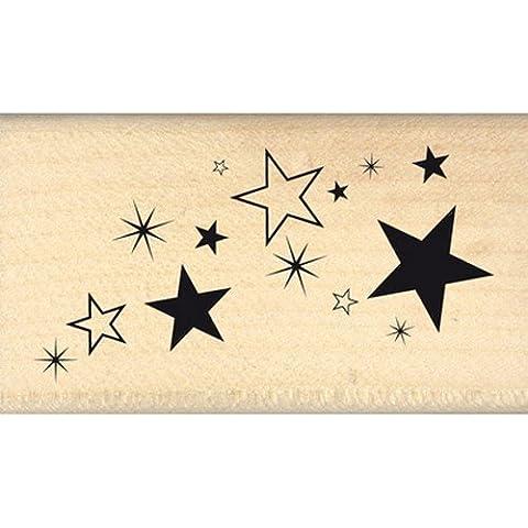 Florilèges Design FD113019 - Timbro per scrapbooking, fantasia: polvere di stelle, 4 x 7 x 2,5 cm, colore: beige [lingua francese]