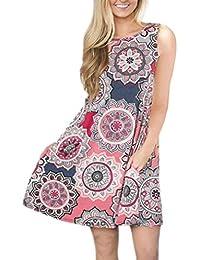 23509a2badc6a8 Vectry Kleider Damen Kleid Brautjungfernkleid Petticoat Lange Kleider  Sommer Jumpsuits Kurz Ballkleid Kleiderbügel Damenkleider Kurz -