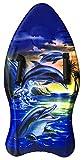 Idena 40312 - Surfboard mit Handschlaufen, Delfine, ca. 93 cm