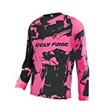 Uglyfrog Bicycle Wear Long Sleeve Cycling Jersey Herren MTB/Downhill Shirts V-Ausschnitt Sommer&Spring Top