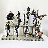 Sconosciuto Toy Statue One Piece Toy Model Collezione di Personaggi dei Cartoni Animati/Souvenir Cannon Nero Set da 8 Pezzi