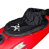 Canoashop.com Paraspruzzi per Canoa Kayak Taglia Unica Regolabile (Nero)