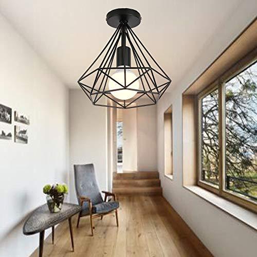 Lámpara techo Retro Colgante Iluminación Industrial
