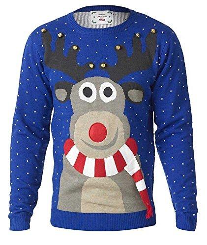 D555 Herren Weihnachtspullover (Tall-gerippter Pullover Big-und)