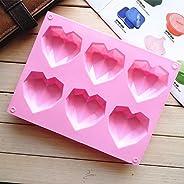 1 Pcs Silicone Fondant Mould Heart Diamond Cake Chocolate Mold Non-toxic Bakeware Form DIY Soap Pastry Tools K