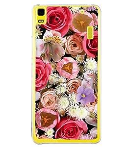 Multi Colour Flowers 2D Hard Polycarbonate Designer Back Case Cover for Lenovo A7000 :: Lenovo A7000 Plus :: Lenovo K3 Note
