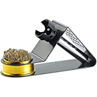 AGT Lötkolbenständer: Kompakter Lötkolbenhalter mit Spiralwolle (Lötkolbenhalterung)