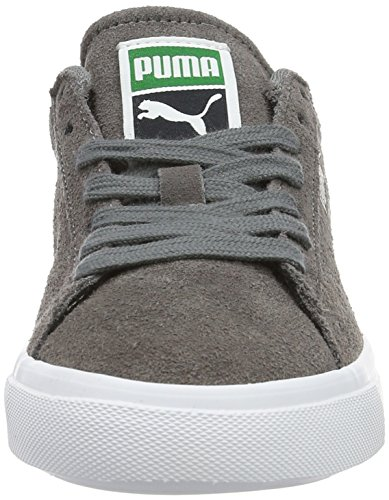 Puma Court Star Vulc Suede, Baskets Basses Garçon Gris - Grau (Steel Gray-puma White 04)