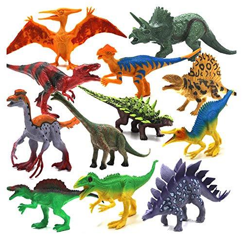 (SinceY Dinosaurier Spielzeug Modell Set 12 Stücke, Simulation Dinosaurier Set, Dinosaurier Spielzeug Kindergeburtstag Party Dekoration)