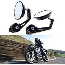 Juego de 2 retrovisores KaTur para motocicleta, 22 mm, de aleación de aluminio,