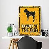 Metallschild mit Aufschrift Beware of The Dog, personalisierbar, Metallschild, Aufschrift Beware of The Dog, 20,3 x 30,5 cm