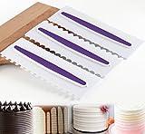 ilauke Glasurglätter Textur-Kämme für Tortendekoration Grenze Design Press 3 Set Schablone Fondant Torten Kuchen Modellierwerkzeug