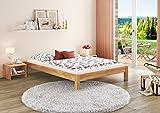 Erst-Holz Solido Letto futon 120x200 faggio massello Eco Laccato con Speciali Assi di Legno 60.84-12 FV