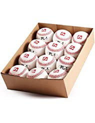 barnett PL Elite 1–match-Balle de baseball - 22,8 cm-Blanc-Lot de 12