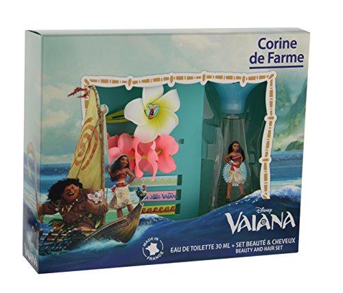 Corine de Farme - Coffret Disney Princesses - Vaiana Eau de Toilette + Barrette + Bracelet + 3 Rubans 30 ml
