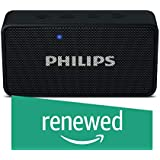 (Renewed) Philips BT64B Portable Bluetooth Speakers (Black)