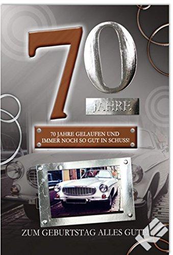 """Karte zum 70. Geburtstag """"Oldtimer"""", B6 + Umschlag"""