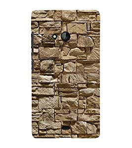 Fuson Designer Back Case Cover for Microsoft Lumia 540 Dual SIM (Bricks Stones Concrete Wall strong Wall pebbles Irregular Pattren)